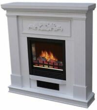 """Electric Fireplace Heater Indoor Living Room Bedroom Flame with 38"""" Mantle White"""