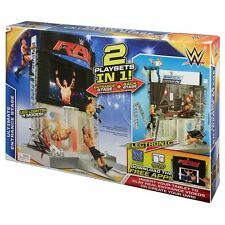 MATTEL WWE elettronico Ultimate INGRESSO STADIO Playset-Set 2 IN ONE-NUOVO
