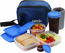 Insulated Lunch Bag Box Kit, Milton 5 Pc Set, Blue