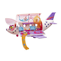 Littlest Pet Shop Pet Jet Playset Toy, Includes 4 Pets, Adult Assembly Required