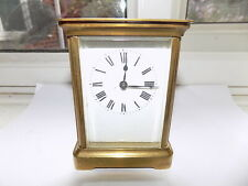 ANTIQUE c1900 FRENCH A.C.C.L. 8 DAY BRASS CARRIAGE CLOCK