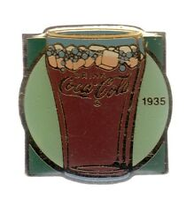 RARE PINS PIN'S .. COCA COLA COKE USA 100 ANS  DRINK VERRE GLACONS 1935 ~17