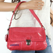 Coach Poppy Distressed Leather Layla Flap Crossbody Bag 18160 Pink RARE Hearts