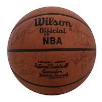 1973-74 Milwaukee Bucks Team Signed NBA Basketball Kareem Abdul Jabbar JSA COA