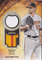 2017 Topps Tier One 1 Zach Britton /25 Jersey Patch Relic Baltimore Orioles
