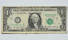1977 $1 Gutterfold Major Error FRN Obverse 2 Folds Misprint Currency Note