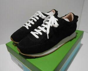 BNIB Kate Spade Fariah black suede ruffle edge sneakers trainers EU 39 UK 6 NEW