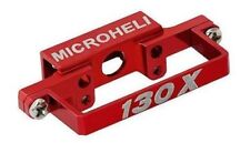 NEW Microheli Blade 130x Alum DS35 Tail Servo Mount RED130 x FREE US SHIP