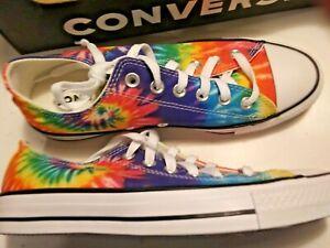 CONVERSE Tie DYE All STAR Chuck Taylor Womens 8.5/Mens 6.5 Multi Rainbow shoes