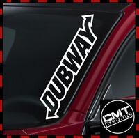 Dubway Windscreen Decal Car Sticker DUB VW Volkswagen GTI Golf 17 Colours 550mm