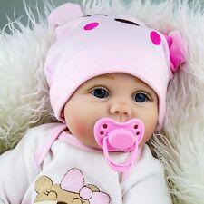 "22"" silicone vinyl reborn doll gift baby dolls lifelike baby handmade newborn"