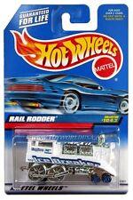 1999 Hot Wheels #1043 Rail Rodder painted base