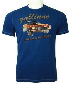 Galliano muscle car tee navy