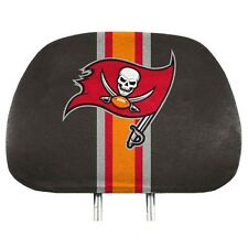 Tampa Bay Buccaneers PRINTED Color 2-pack Head Rest Covers Elastic Auto Football