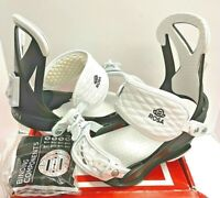$150 Union Rosa Snowboard Binding Womens NIB S Small US Sz 3-6 Boot Black White