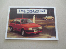 1982 Mazda 323 Hatchback car car advertising booklet