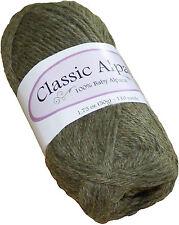 Classic Alpaca 100% Baby Alpaca Yarn #1414 Olive 50g/110 yds DK Peruvian
