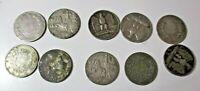 lotto 10 monete Argento Regno d'Italia 1863/1929 MB/SPL vedi foto Gr. 50