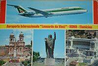 42061Ak Avión International Airport Leonardo Da Vinci Roma Fiumicino Alital