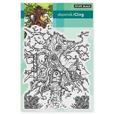 PENNY BLACK RUBBER STAMPS SLAPSTICK CLING COTTAGE TREEHOUSE NEW cling STAMP