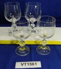 "LOT of FOUR Claudia Crystal Wine Goblets 5-3/4"" VT1561"