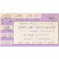 Allman Brothers Band & George Thorogood Concert Ticket Stub 8/4/90 Shoreline Ca