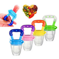 3 Pack Baby Fruit Feeder Pacifier Kids Fresh Food Nipple Feeding Safe Weaning