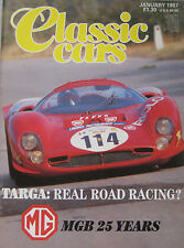 Classic Cars magazine January 01/1987 featuring MGB, BMW M5, ISO lele