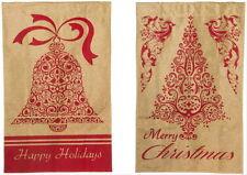 NEW LARGE EVERGREEN 2 SIDED BURLAP FLAG MERRY CHRISTMAS HAPPY HOLIDAYS 28 X 44