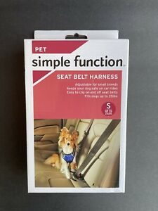 pet simple function - seat belt harness SMALL UP TO 25lbs