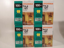 Yellow Bug Light Bulb 100W Watt Sylvania 8 Pack Outdoor Porch Non-attracting