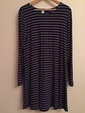Old Navy Navy Breton Striped Jersey Dress. Size L (UK 14/16). New With Tag.