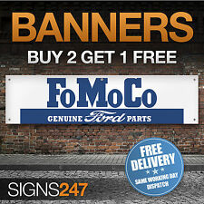 Genuine Ford Parts Garaje Taller Fomoco PVC bandera signo (ZA061)