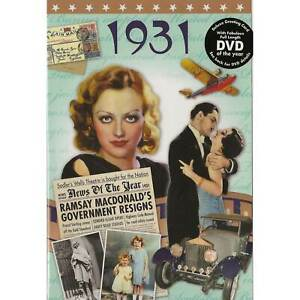 90th Anniversary gift ~ DVD with Memories from 1931 and a Greeting Card in one