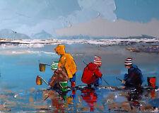 Grand format 70x50 JP DOUCHEZ Tableau Peinture huile sur toile au couteau Drouot