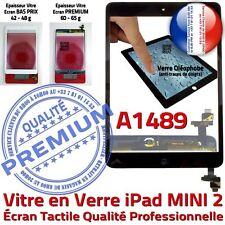 Vitre Ecran Tactile iPad Mini A1489 Noir Assemblée HOME IC Adhésif Pré-montés
