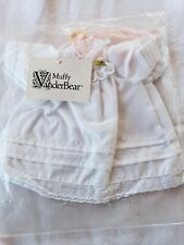 "VanderBear Wear ""Muffy"" White eyelet dress with bonnet Bear Clothes"