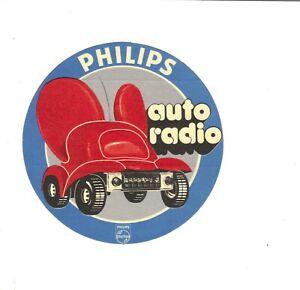 """DIVERS   Autocollant """" Philips auto radio """""""