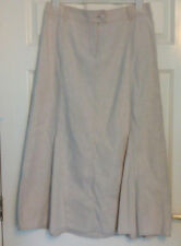 BNWT Per Una Marks & Spencer Beige Linen Blend Panelled A Line Skirt UK 16