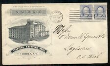 1894 CAPITOL KNITTING MILL, COHOES NY advertising cover, 1¢ pair tied ALBANY N.Y