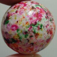 Vintage/Antique Marbles HTF Handmade Clay Multicolor Confetti Boulder 1.160 Nice