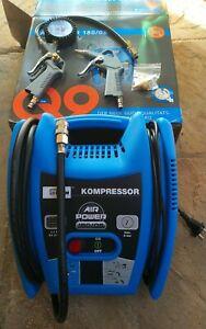Güde Kompressor 1100W 8bar Druckluft 230V Netzstrom handlich mit 2 Pistolen NEU