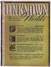 Pulp UNKNOWN WORLDS October 1941 - Fritz Leiber, L. Ron Hubbard, Henry Kuttner