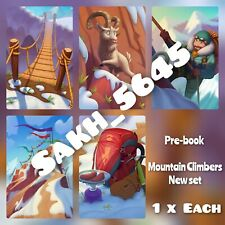1 x Mountain Climbers Full  New Set ( Fast sending  ) :- Coin Master Cards