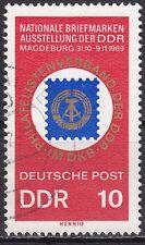 DDR Mi.-Nr. 1477 gestempelt 10 Pf. Nat. Briefmarkenausstellung Magdeburg