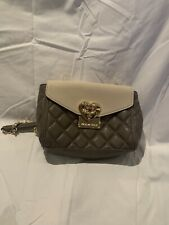LOVE MOSCHINO QUILTED BEIGE CROSSBODY  BAG