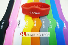 10x silicon NFC wristbands UNIVERSAL for ALL NFC phone, RFID bracelet access tag