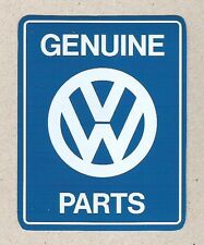 VW Volkswagen Genuine Parts Beetle Bug Sticker, Vintage Sports Car Racing Decal