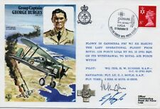 HISTORIC AVIATORS  - GROUP CAPT GEORGE BURGES Flown FDC Signed By Two Crew COA