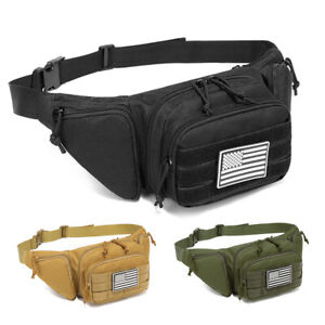 Concealed Carry Pistol Pouch Tactical Fanny Pack Military Molle Waist Bag USA
